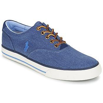 Cipők Férfi Rövid szárú edzőcipők Ralph Lauren VAUGHN Kék