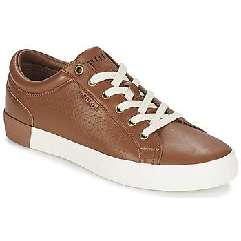 Cipők Férfi Rövid szárú edzőcipők Ralph Lauren ALDRIC II Barna