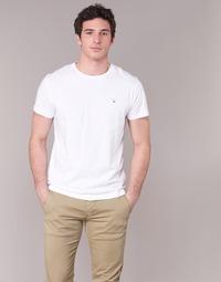 material Férfi Rövid ujjú pólók Gant THE ORIGINAL T-SHIRT Fehér