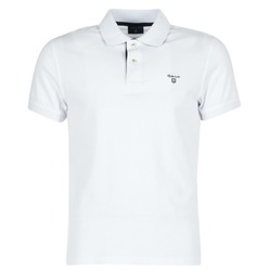 Ruhák Férfi Rövid ujjú galléros pólók Gant CONTRAST COLLAR PIQUE Fehér