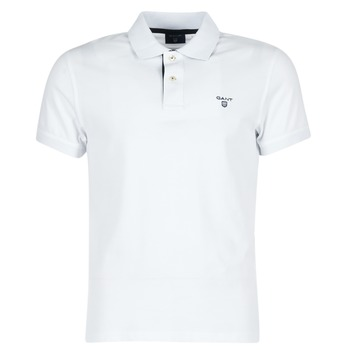 material Férfi Rövid ujjú galléros pólók Gant CONTRAST COLLAR PIQUE Fehér