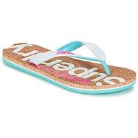 Cipők Női Lábujjközös papucsok Superdry CORK COLOUR POP FLIP FLOP Fehér / Rózsaszín / Kék