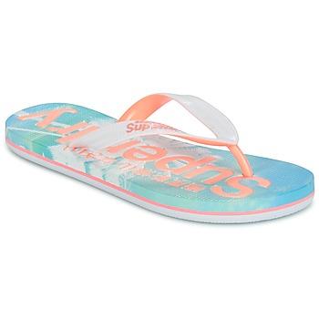 Cipők Női Lábujjközös papucsok Superdry SUPERDRY AOP FLIP FLOP Rózsaszín