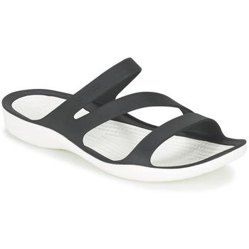 Cipők Női Szandálok / Saruk Crocs SWIFTWATER SANDAL W Fekete  / Fehér