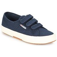 Cipők Női Rövid szárú edzőcipők Superga 2750 COT3 VEL U Tengerész