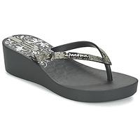 Cipők Női Lábujjközös papucsok Ipanema ART DECO III Fekete