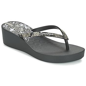 Shoes Női Lábujjközös papucsok Ipanema ART DECO III Fekete