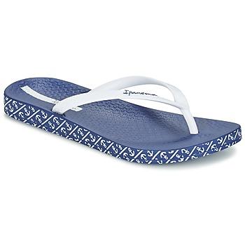 Cipők Női Lábujjközös papucsok Ipanema ANATOMIC SOFT Fehér / Kék