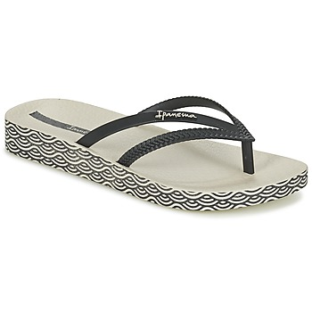 Cipők Női Lábujjközös papucsok Ipanema BOSSA SOFT Fekete  / Bézs
