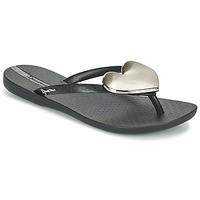 Cipők Női Lábujjközös papucsok Ipanema MAXI FASHION II Fekete