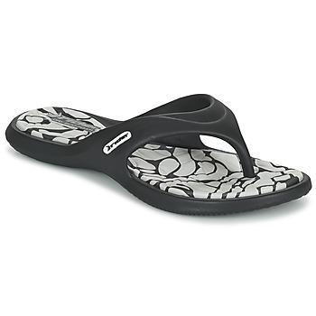 Cipők Női Lábujjközös papucsok Rider ISLAND VIII Fekete  / Szürke