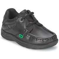 Cipők Gyerek Vitorlás cipők Kickers REASON LACE Fekete