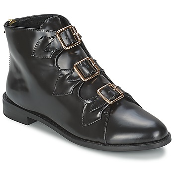 Cipők Női Bokacsizmák F-Troupe Triple Buckle Boot Fekete