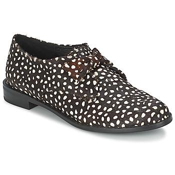 Cipők Női Oxford cipők F-Troupe Bow Polka Fekete / Fehér
