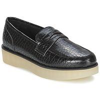 Cipők Női Mokkaszínek F-Troupe Penny Loafer Fekete