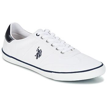 Cipők Férfi Rövid szárú edzőcipők U.S Polo Assn. RAY Fehér