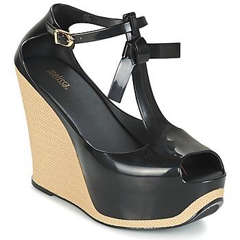 Cipők Női Szandálok / Saruk Melissa PEACE VI Fekete  / Bézs