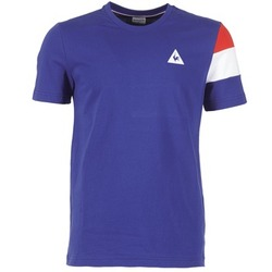 material Férfi Rövid ujjú pólók Le Coq Sportif BLUREA Kék