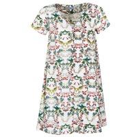Ruhák Női Rövid ruhák Compania Fantastica EPINETA Fehér / Zöld / Rózsaszín