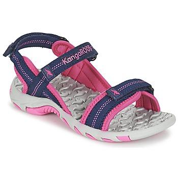 Cipők Lány Sportszandálok Kangaroos MUSER Tengerész / Rózsaszín