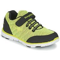 Cipők Fiú Rövid szárú edzőcipők Kangaroos NURI ZEBRA Zöld / Fekete