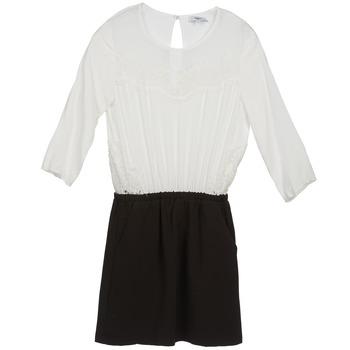 Ruhák Női Rövid ruhák Suncoo CELESTINE Fekete  / Fehér