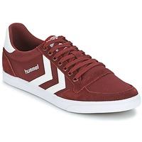 Shoes Rövid szárú edzőcipők Hummel STADIL CANEVAS LOW Bordó