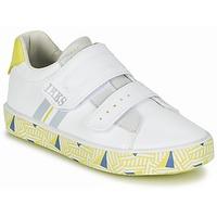 Shoes Fiú Rövid szárú edzőcipők Ikks JOE Fehér / Citromsárga
