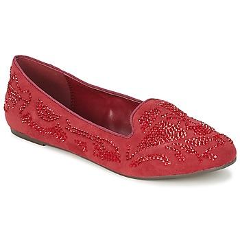Cipők Női Mokkaszínek Moony Mood LUDIA Piros