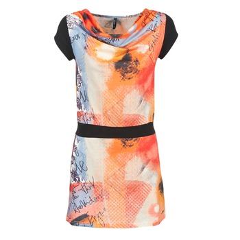 Ruhák Női Rövid ruhák Smash CITRON Narancssárga / Fekete