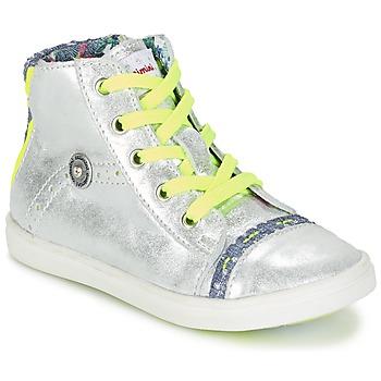 Cipők Lány Magas szárú edzőcipők Catimini PARULINE Ezüst