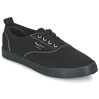 Shoes Női Rövid szárú edzőcipők Pepe jeans JULIA MONOCROME Fekete