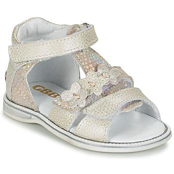 Shoes Lány Szandálok / Saruk GBB PING Szürke / Ezüst