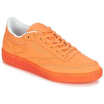 Cipők Női Rövid szárú edzőcipők Reebok Classic CLUB C 85 CANVAS Narancssárga