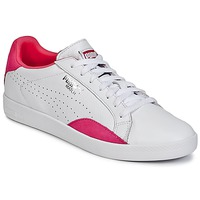 Shoes Női Rövid szárú edzőcipők Puma WNS MATCH LO BASIC.W Fehér / Lila