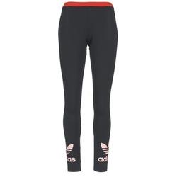 Ruhák Női Legging-ek adidas Originals TREFOIL LEGGING Fekete  / Rózsaszín