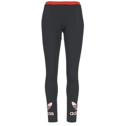 material Női Legging-ek adidas Originals TREFOIL LEGGING Fekete  / Rózsaszín
