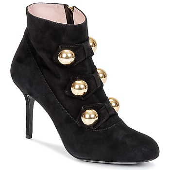 Cipők Női Bokacsizmák Moschino Cheap & CHIC BOW Fekete
