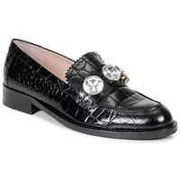 Cipők Női Mokkaszínek Moschino Cheap & CHIC STONES Fekete