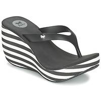 Cipők Női Lábujjközös papucsok Zaxy LIPSTICK V Fekete  / Fehér