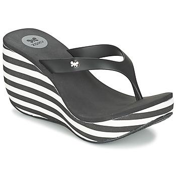 Shoes Női Lábujjközös papucsok Zaxy LIPSTICK V Fekete  / Fehér