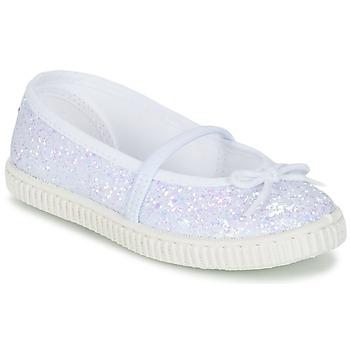 Cipők Lány Balerina cipők / babák Chipie SALSABA Fényes / Fehér