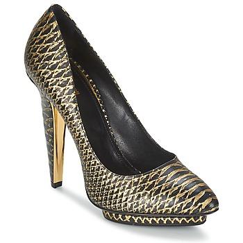 Cipők Női Félcipők Roberto Cavalli YDS622-UC168-D0007 Fekete  / Arany