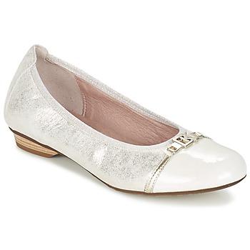 Cipők Női Balerina cipők / babák Dorking TELMA Ezüst / Bézs
