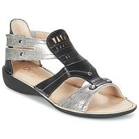 Cipők Női Szandálok / Saruk Dorking ODA Fekete  / Ezüst