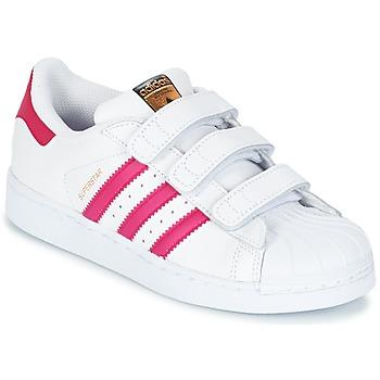 Cipők Lány Rövid szárú edzőcipők adidas Originals SUPERSTAR FOUNDATIO Fehér