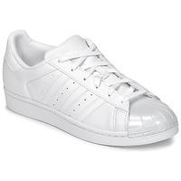 Cipők Női Rövid szárú edzőcipők adidas Originals SUPERSTAR GLOSSY TO Fehér