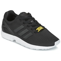 Shoes Gyerek Rövid szárú edzőcipők adidas Originals ZX FLUX J Fekete