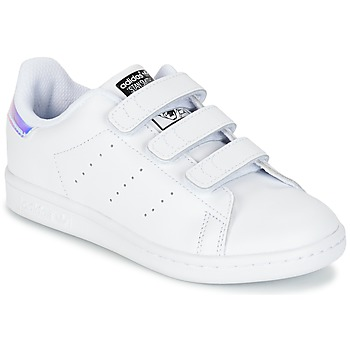 Cipők Lány Rövid szárú edzőcipők adidas Originals STAN SMITH CF C Fehér