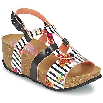 Shoes Női Szandálok / Saruk Desigual BIO 9 FLORES Fekete  / Fehér / Virág